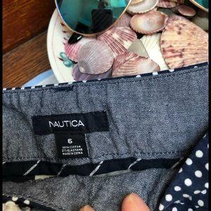 NAUTICA size 6 navy polkadot shorts